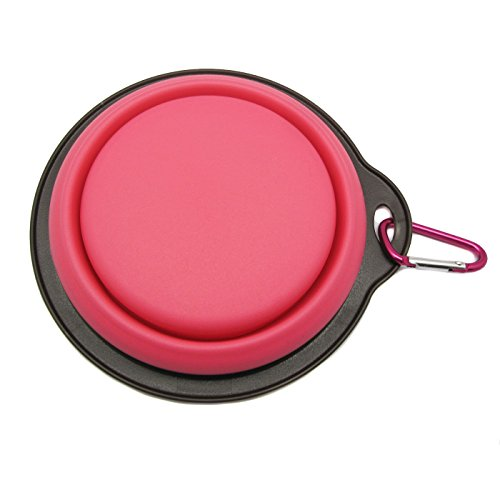 well-wreapped Alfie Pet by Petoga Couture - Mico Silicone Pet Expandable/Collapsible Travel Bowl