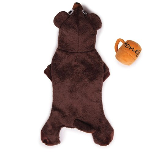 Zack and Zoey Polyester Lil Honey Bear Dog Costume, Small, Brown, My Pet Supplies