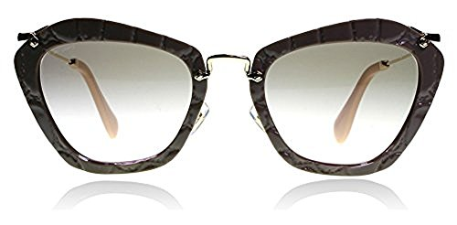 Prada PR13QS 7S04M1 Medium Havana Cinema Round Sunglasses Lens Category 3 - Miu Prada Miu