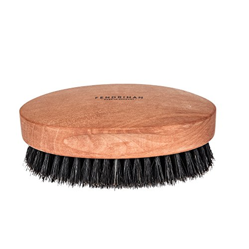 Fendrihan Genuine Boar Bristle and Pear Wood Military Hair Brush, Made in Germany MEDIUM BRISTLE