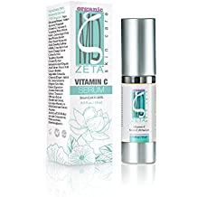 Stem Cell C Serum by ZetaMD Organics - Anti Aging Skin Care Formula with Natural Vegan Hyaluronic Acid Base with 20% Vitamin C