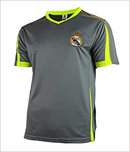Real Madrid Soccer Jersey Adult Training Performance Polyester -Shirts -  Home -Away (Grey TY25 e783ae817