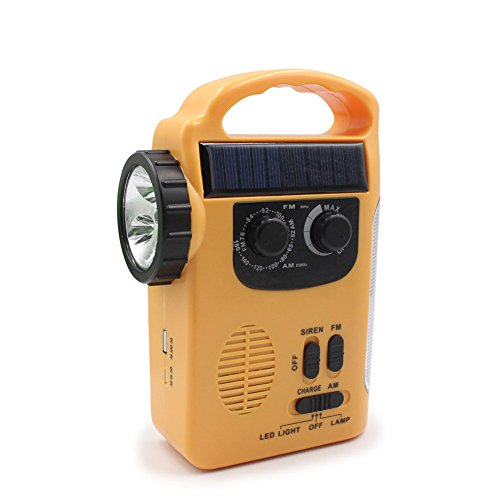 Solar Crank Radio Flashlight Charger Led Reading Light in US - 8