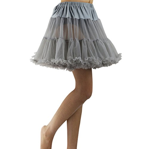 Wennikids Luxury Petticoat Perfect Adult tutu Dance Skirt/Tulle/many colors Gray (Dance Costumes From China)