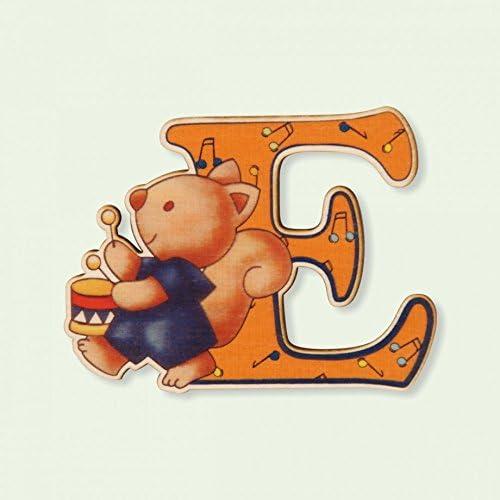 Lettre E Bois Enfant DIDA Lettres Alphabet Bois pour Composer Le nom de Votre b/éb/é et d/écorer la Chambre