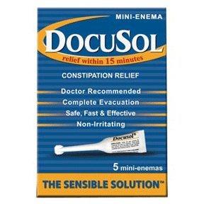 Docusol Constipation Relief, Mini Enemas 5 ea
