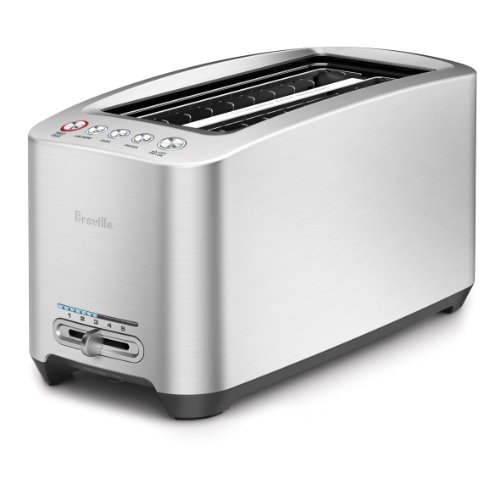 Breville BTA830XL Die-Cast 4-Slice Long Slot Smart Toaster (Four Slot)