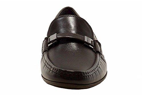 Hugo Boss Mens Flario Donkerbruine Mode Loafers Schoenen