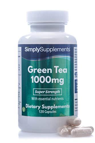 Te verde 1000 mg - 120 Capsulas - Apto para veganos - SimplySupplements