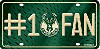 NBA Milwaukee Bucks #1 Fan Metal Tag License Plate