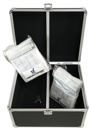 CheckOutStore Black Aluminum CD/DVD Hanging Sleeves Storage Box (Holds 300 Discs) ()