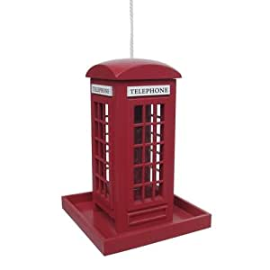 telephone box bird feeder christmas xmas holiday novelty present garden outdoor. Black Bedroom Furniture Sets. Home Design Ideas