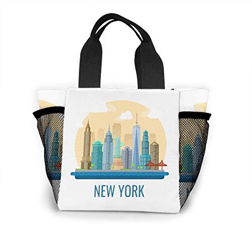 Fjb11 Lunch Handbag with Water Bottle Holder for
