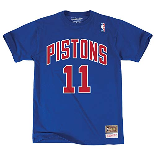 NBA Detroit Pistons Isiah Thomas Name & Number T-Shirt (X-Large)