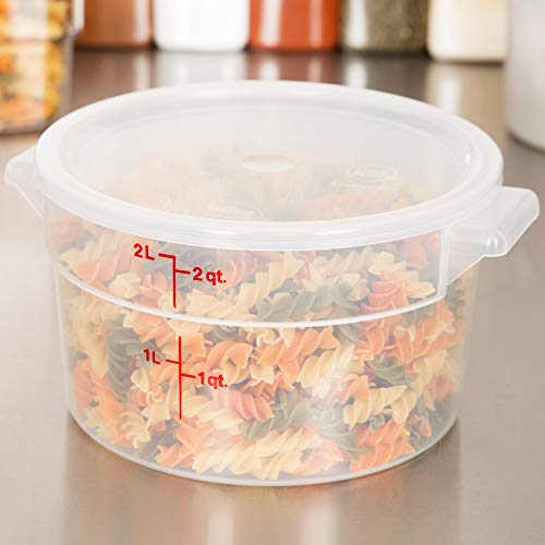 (Cambro RFS2PP190 2 Qt. Translucent Round Storage Container with RFSC2PP190 Translucent Lid )