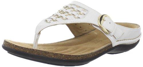 Clarks Kvinna Glöd Rem Sandal Vitt Läder