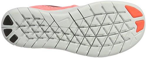 Nike Free Rn (Gs), Zapatillas Deportivas para Interior para Niñas Multicolor (Lava Glow/metallic Silver Black)