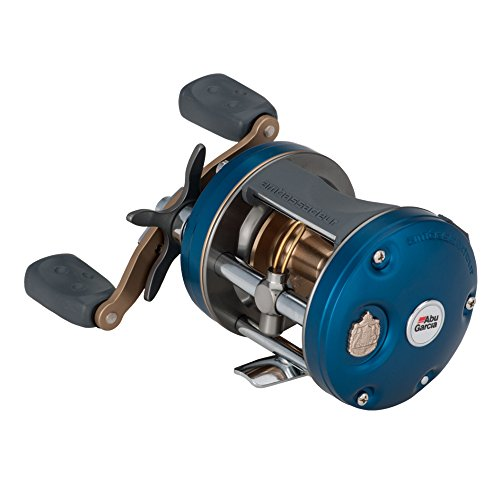 Abu Garcia Ambassadeur C4 Baitcast Round Reel 6600, 6.3:1 Gear Ratio, 5 Bearings, 30″ Retrieve Rate, 15 Lb Max Drag, Rh
