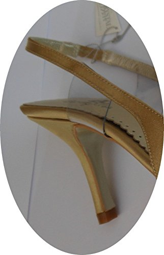 Or Oceanofshoes Femme Cuir escarpin Satiné 7Zxwtxqg