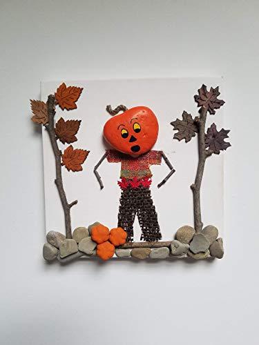 Jack O'Lantern Halloween-Wall Decor Rock Art