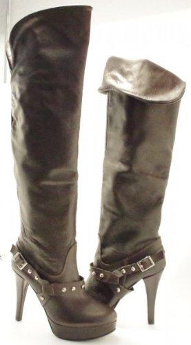 Giusy AbsatzGlattleder In Schuhe StiefelPlateau10cm Laura Made Busi Overknee Leder Italy Damen FcTJlK1