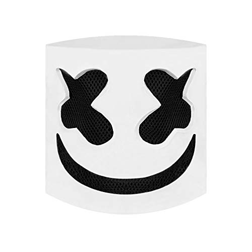 Marshmello Helmet,DJ Marshmello mask fo Kids& Adult,Latex/Marshmallow Mask for Fans Meeting,Music, Party, Halloween and (Halloween Costumes For Groups Of 4 Adults)
