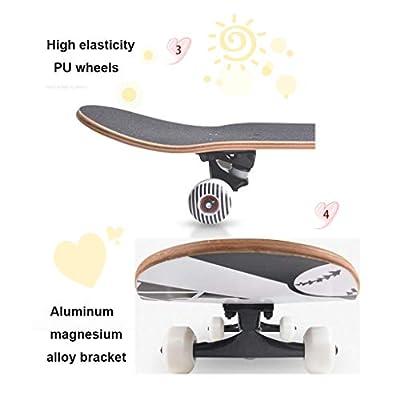 SHATONG Adult Professional Entry Naruto Skateboard Teens Four-Wheel Skateboard Beginner Surfing Street Kids U-Shaped Skateboard Student Dancing Skateboard Sprots Highway Trendy Skateboard (Color : A) : Sports & Outdoors