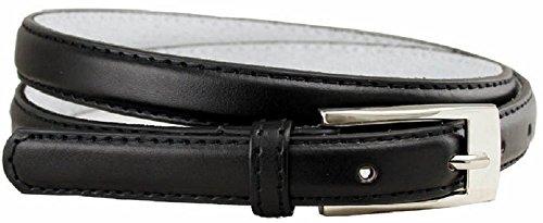 AimTrend Women's Belt Skinny Narrow Genuine Leather Fashion Dress (Leather Skinny Belt)