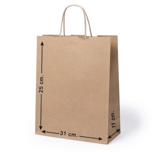 10 x Bolsas de papel con asas. Tam. 25 x 31 x 11 cm.: Amazon ...