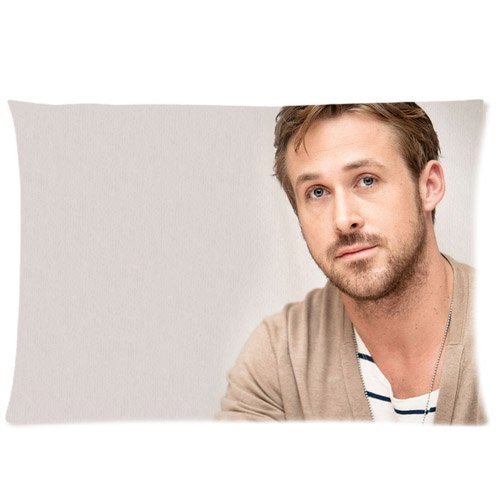Basidfs Custom Ryan Gosling Pillowcase Standard Size 20x26 Two Sides Design Cotton Pillow Case