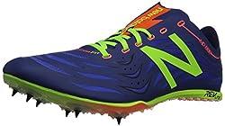 New Balance Men's MD800V4 Track Spike Shoe, Lime/Red, 12.5 D US