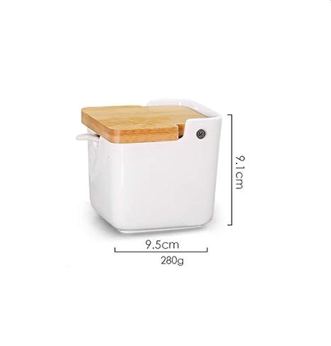 Zuccheriera in ceramica BXM con cucchiaio di zucchero e coperchio in ...