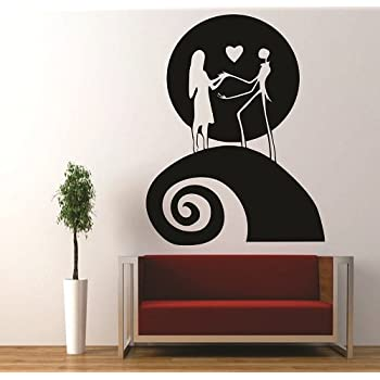 Jack And Sally Moon Nightmare Before Christmas Decal Sticker For Window Car  Windows Truck Room (