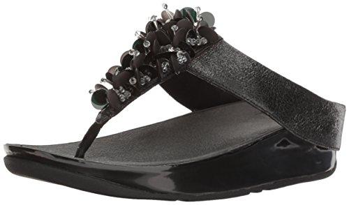 FitFlop Women's Boogaloo Toe Post Flip Flop - Deep Plum -...