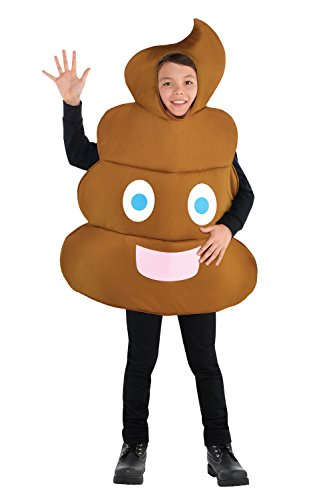 [Pooper Child Costume - One Size] (Poop Emoji Costume)