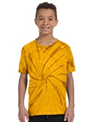 Tie-Dye Youth 9 oz., 100% Cotton Tie-Dyed T-Shirt S SPIDER GOLD