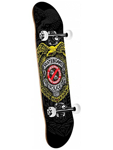 Swiss Powell (Powell-Peralta Skateboard Police Complete Skateboard, Blue)