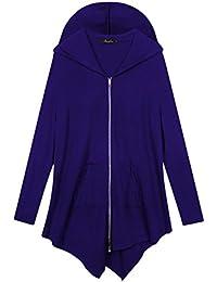 e014c82daa44 Women Plus Size Lightweight Full Zip Up Hooded Sweatshirt Hoodie Jacket