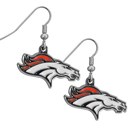 NFL Denver Broncos Chrome Dangle Earrings