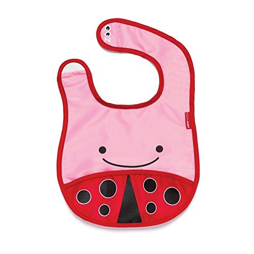 Baby Bugs Baby Bib (Skip Hop Zoo Little Kid and Toddler Tuck-Away Water Resistant Baby Bib, Multi Livie Ladybug)