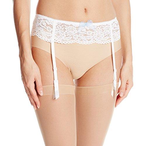 (b.tempt'd by Wacoal Women's Ciao Bella Garter Belt, Bridal White,)