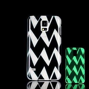 YULIN resplandor patrón azteca en el caso duro oscuro para i9600 Samsung Galaxy S5