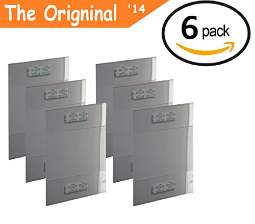 Tz Tagz The Original 6 Pack Of Wall Mount 8 5 X 11 Or 11 X 8 5 Clear Acrylic Sign Holders With Adhesive  No Drilling