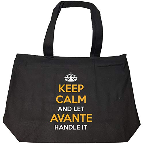(Keep Calm And Let Avante Handle It Cool Gift - Tote Bag With Zip)