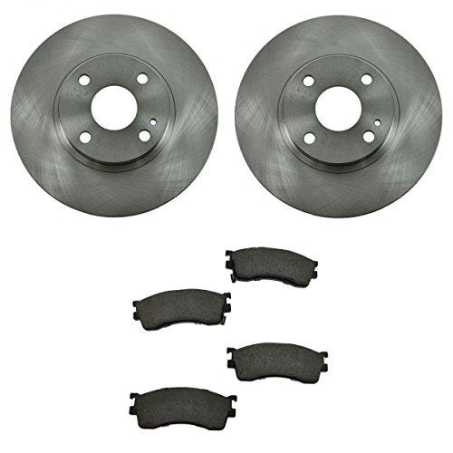 Front Ceramic Brake Pads & 2 Rotors LH & RH Set Kit for Mazda Protege