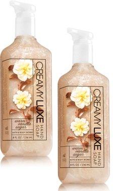 Soap Vanilla Hand Warm Sugar (Bath and Body Works 2 Pack Warm vanilla sugar Creamy Luxe Hand Soap 8 Oz.)