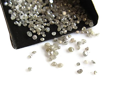 25 Pcs Aprox/Natural Rose Cut Diamond/Gray Raw Rough Uncut Diamond/1-2mm Each -D37