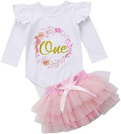 Amazon.com: Vestido de primera cumpleaños para niñas con ...