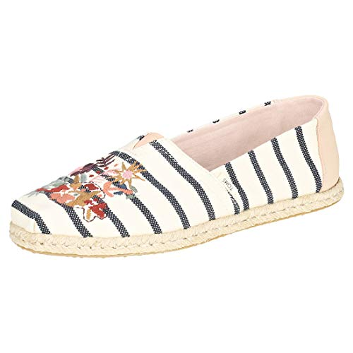 Toms Women's Espadrilles Shoes Floral Embroidery