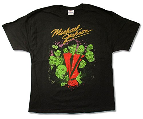 ie Crew Thriller Men's Black T Shirt (2X) (Jackson Concert Shirt)